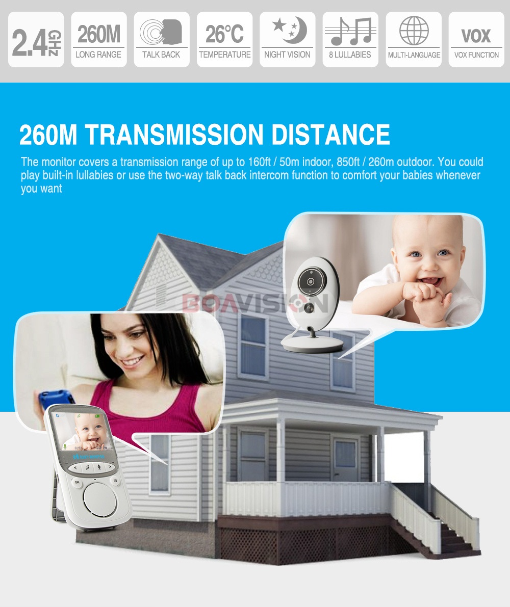 2 Inch Wireless Baby Monitor With Video And Radio As Mini Camera To Record your Baby At Home 7