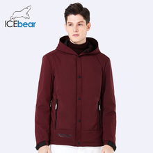 ICEbear 2018 new men s casual coat spring man warm cotton padded hooded overcoat windproof brand