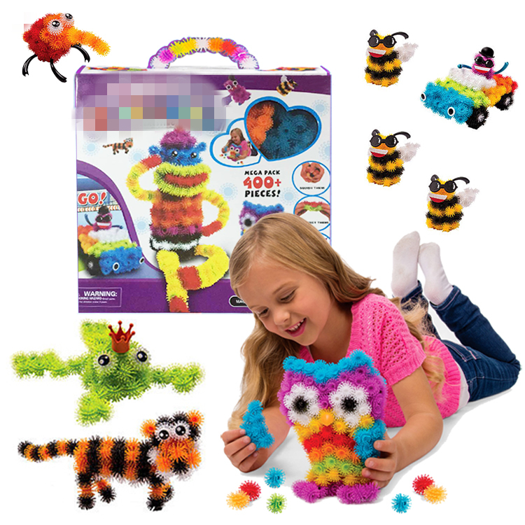 ФОТО 2016 new 400 pieces accessories build mega pack animals diy assembling spot best block toy sets for children christmas gift