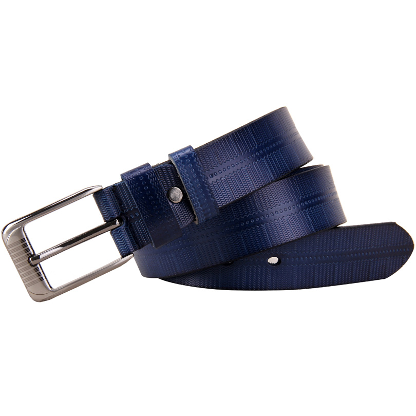 Genuine leather belts for women Fashion Pin buckle woman belt High quality Second Layer Cowskin strap female for jeans Blue sale 1