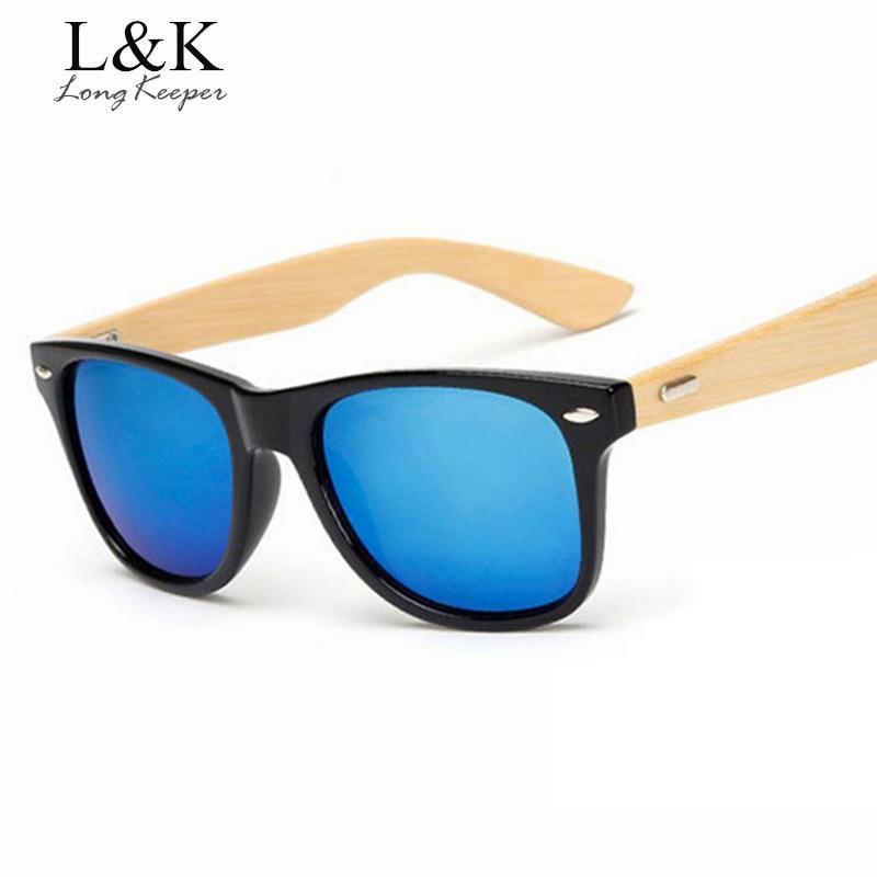 Long Keeper Classic Wood Bamboo Arms Sluneční brýle pro muže - Příslušenství pro oděvy