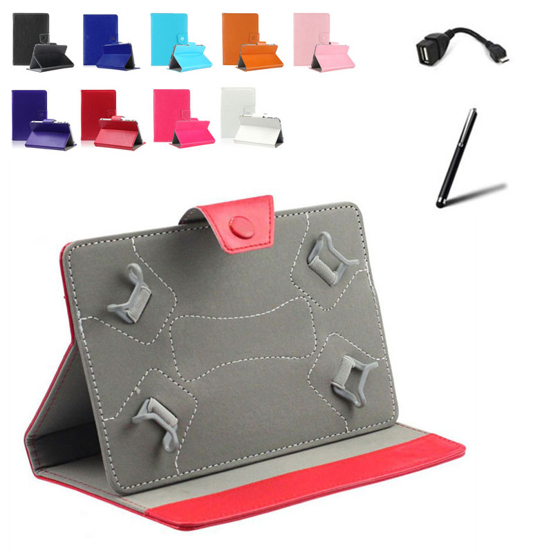 For Prestigio MultiPad PMT3131/Wize 3131 3G 10 inch Universal Tablet PU Leather Magnetic Cover Case + OTG Cable + Stylus Pen