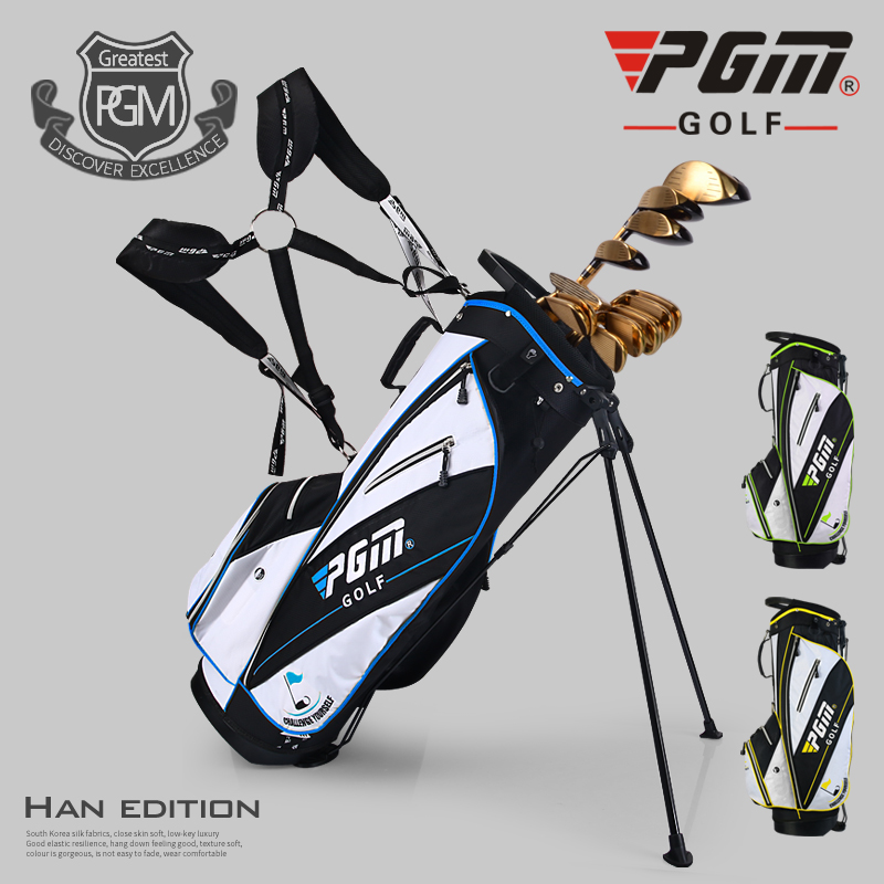 Ultra Light! PGM New Golf Bag Waterproof Men Caddy Golf Cart Tripod Rack Stuff Golf Bag Women Bracket Gun Stand Bag 14 Sockets mizuno aerolite x golf stand bag white royal page 1