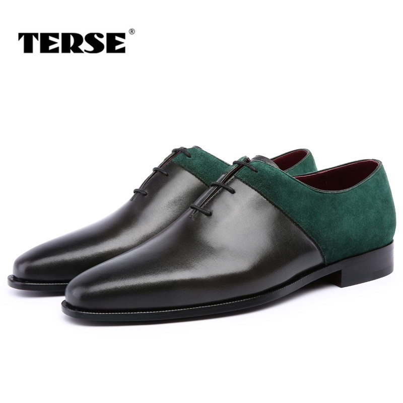 TERSE_Mens wedding shoes handmade leather dress shoes 2 colors oxfords goodyear genuine leather flat dress shoes custom logo skp136 custom made goodyear 100% genuine leather handmade oxfords shoes men s handcraft dress formal shoes large plus size