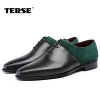 TERSE_Mensรองเท้าแต่งงานที่ทำด้วยมือหนังชุดรอง
