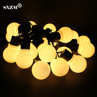 SXZM 5M 20 Leds 5CM Big Ball Waterproof LED String Light Outdoor For Christmas Party Festival