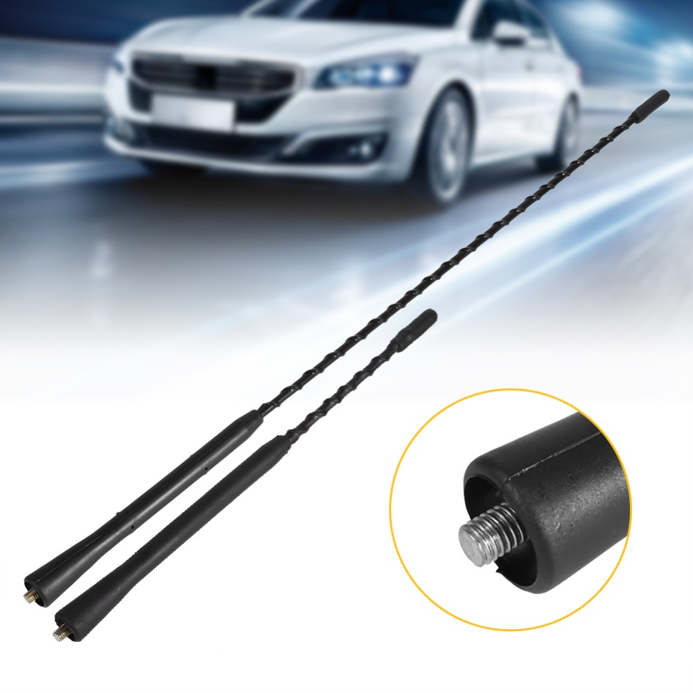 Car Stereo Radio Aerial Antenna Universal 9 Inch Car Antenna Aeria Mast Car FM Antenna Stubby Screw-In Black