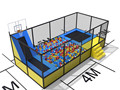 Exported to USA Indoor Trampoline Park With Foam Pit and Basketball Stand CE Certified HZ-048
