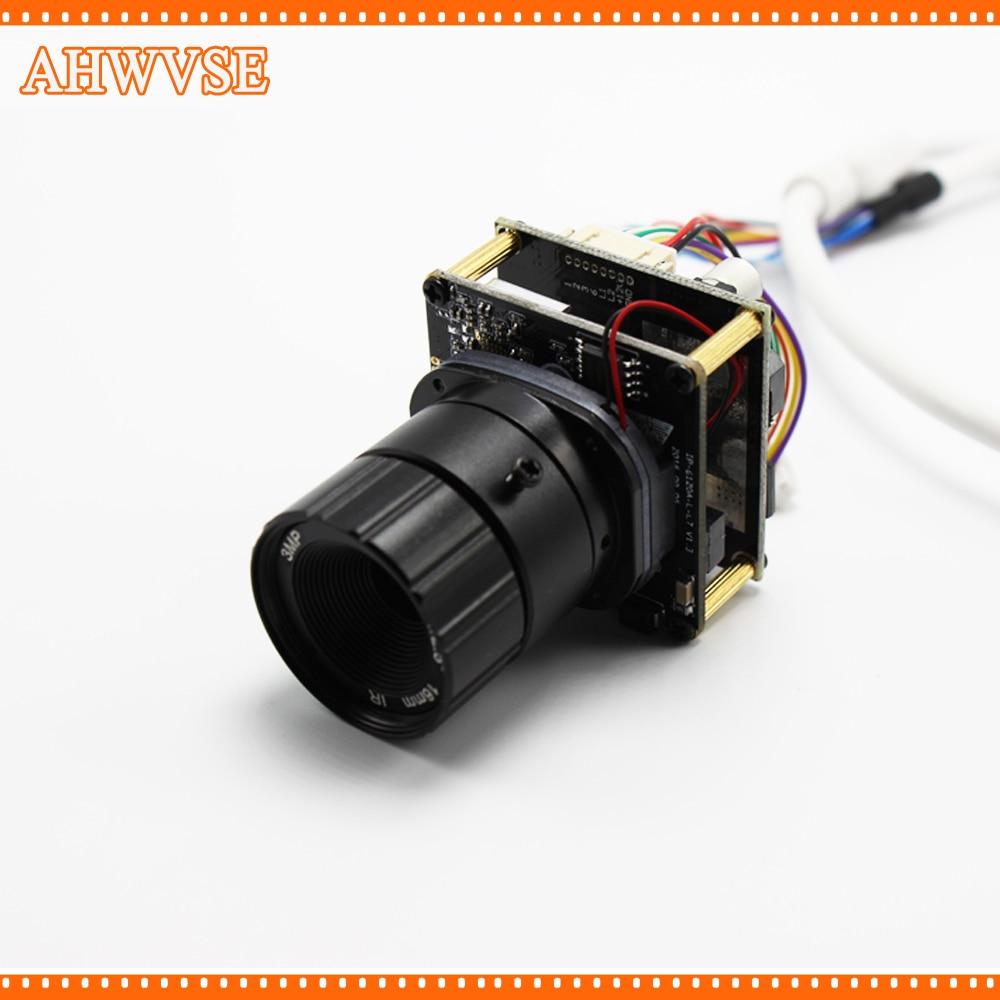 AHWVSE 10pcs/lot Full HD PoE Camera 48V PoE IP Camera Module 720P 960P 1080P with 3MP Lens 12mm