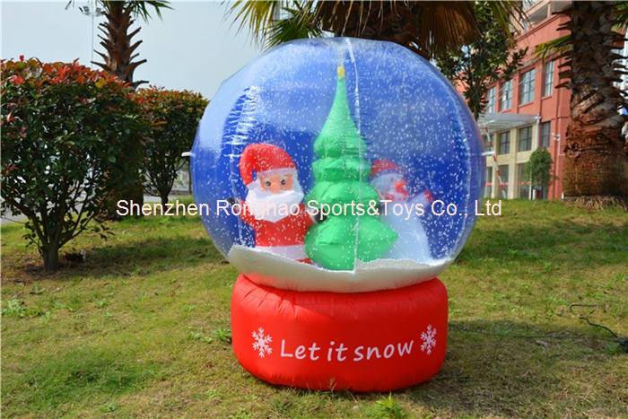 Inflatable christmas snowball toys tree snowman snow globe for Outdoor christmas globes