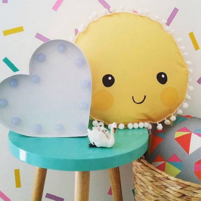 Sorriso Sun Projeto Travesseiro Do Bebê Para Crianças Meninos Meninas Da Cama travesseiros Berço Sala Travesseiro Decorativo Bonito para Crianças Stuffed Plush brinquedo