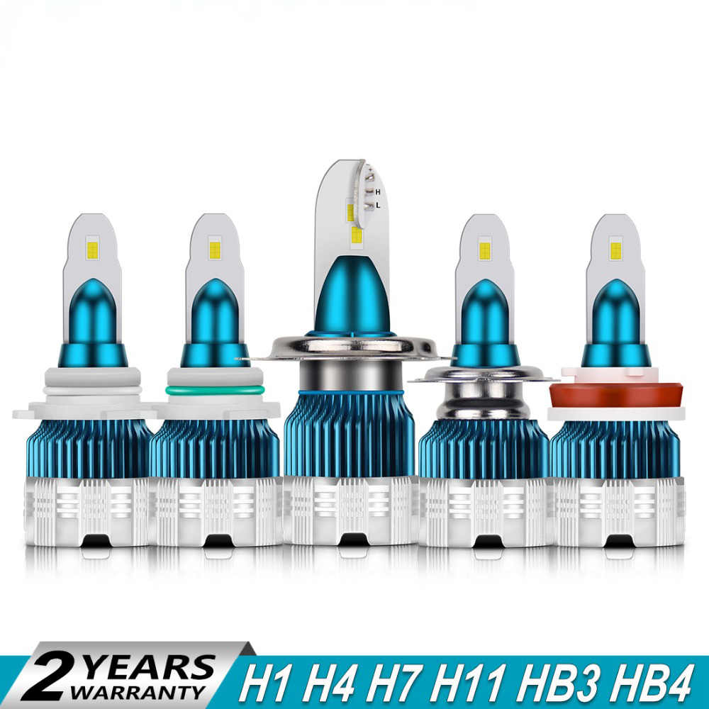 2PCS/LOT Ultrashort Slim Mini H3 H9 H1 H4 H11 H7 Led Headlight Bulb 6500K 12V 24V Auto Headlamp HB3 HB4 H8 Fog Car Light Bulb