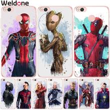 Fashion Marvel Avengers Cases For Xiaomi Mi 5X a1 Mi6 Redmi 4 Pro Note 4X 4A 5A Deadpool Spiderman Groot Cover etui