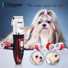 iClipper Professional Pets Hair Clipper Cats Dogs Cut Machine Electric Trimmer Animal Grooming Kit Rechargeable Low-noise 938