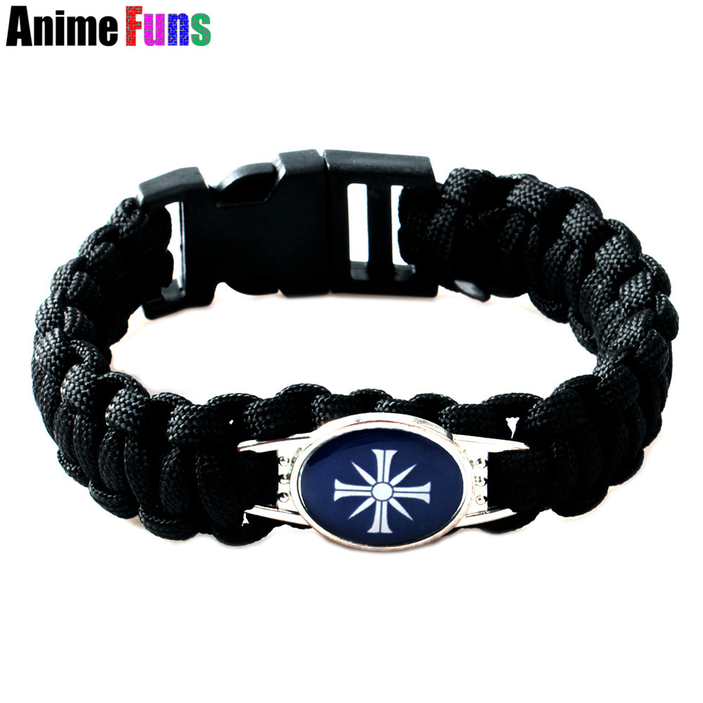 FPS Game FARCRY5 Logo Charm Bracelet Retro Punk Jewelry DIY Handmade Braided Bangle Men Women Gift for fans Chaveiro drop-ship