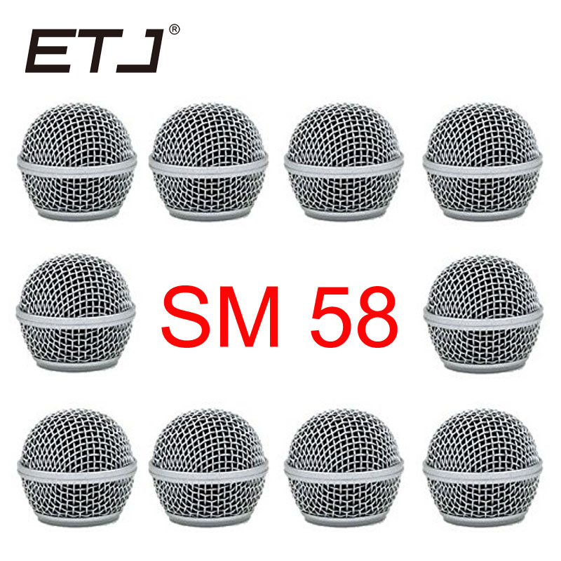 Freeshipping 10pcs/lot Professional Replacement Ball Head Mesh Microphone Grille Fits For Shure Sm 58 Sm 58sk Beta 58 Beta58a