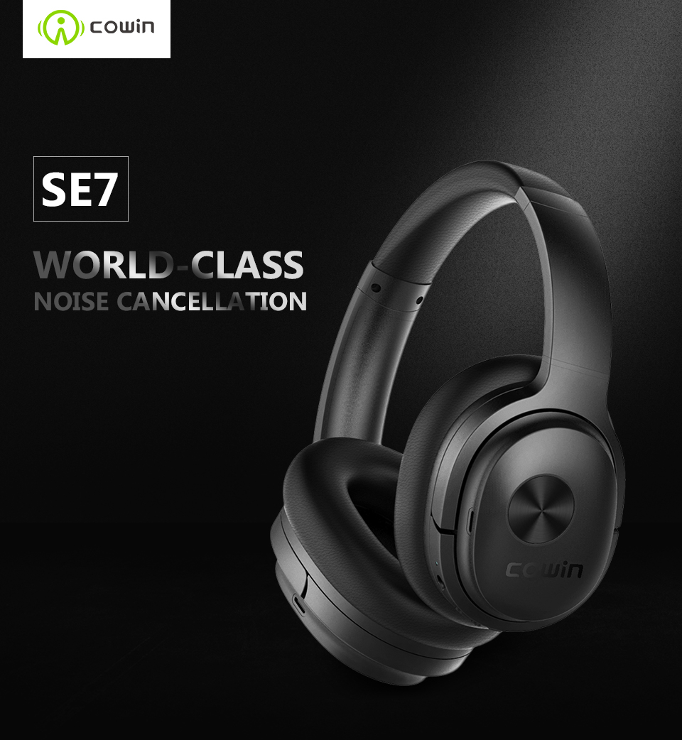3f760cd4559 Cowin SE7 ANC Active Noise Cancelling Bluetooth Headphones Wireless Headset  with apt-x microphone for phones -30dB level