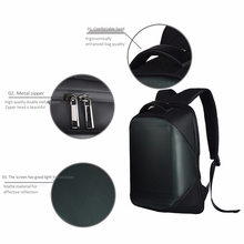 NEW-Dc 5V Led Dynamic Display Wifi Backpack Laptop Notebook Control 22L School Bag Waterproof For Advertising