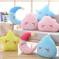 New Kawaii Sky Series Pillow Soft Star Clouds Water Plush Toys Stuffed Cushion Nice Sofa Pillow Lovely Christmas Gift for Girl