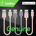15 cm belkin original mfi certified relâmpago para cabo usb 8 pin do telefone móvel curto metálico (charge + sync) para iphone 7 6 s plus
