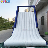 Free shipping Commercial Outdoor Giant Cheap Water Park Inflatable Slide Water Inflatable Climbing Floating Slide with factory