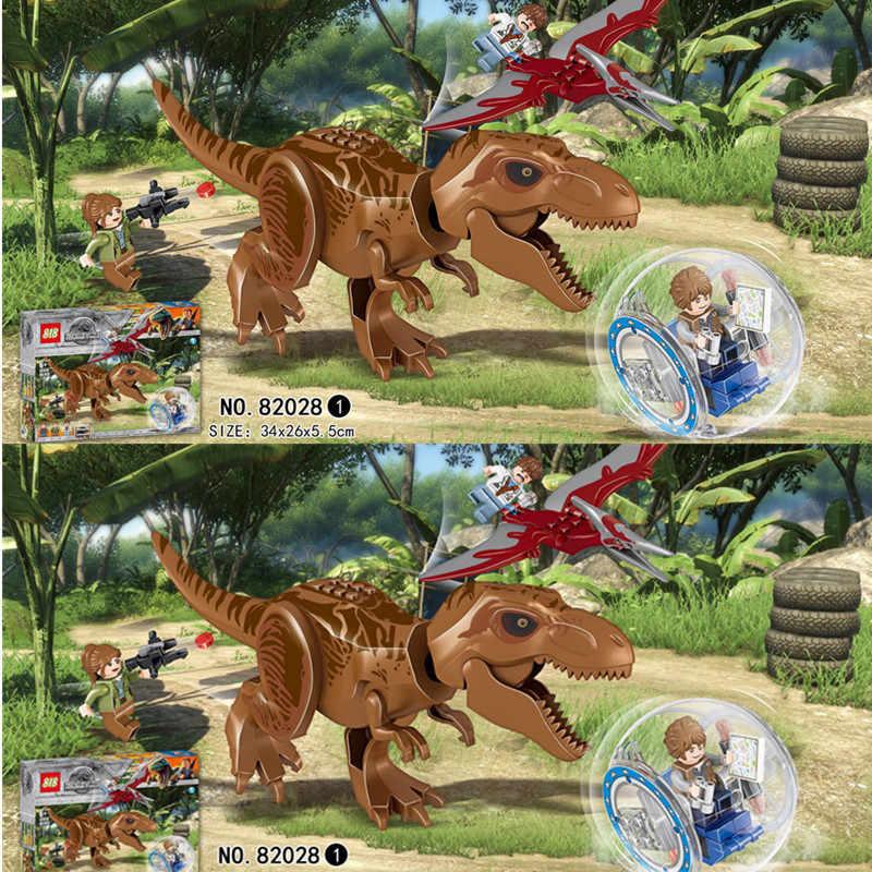 82028 إندومينوس ركس تيرانوصور تي ريكس ديناصور اللبنات الطوب الاطفال لعب للأطفال متوافق ليجونغز الجوراسي العالم