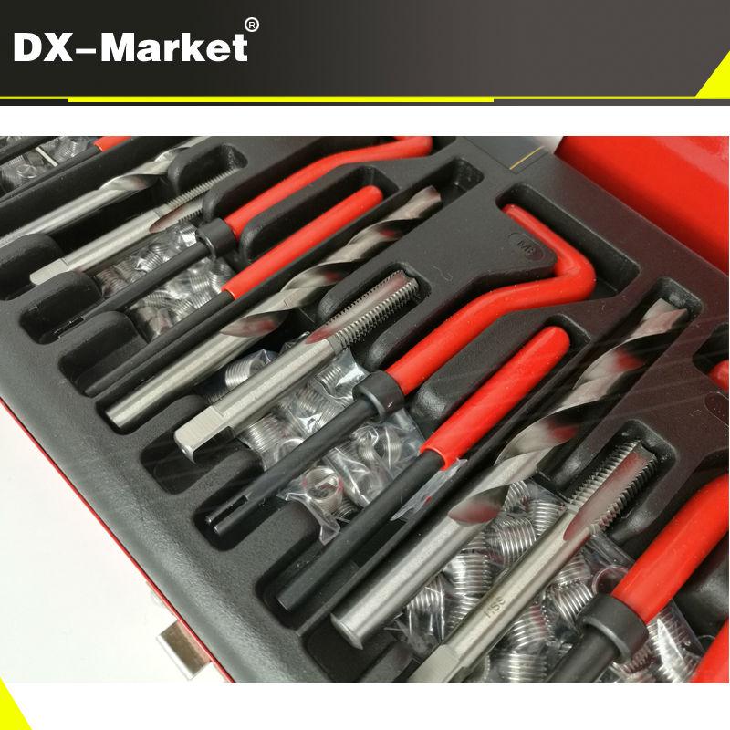 131pcs thread repair set , m5 m6 m8 m10 m12 Metric thread insert repair tools with 1.5D coil , Tin suit  H006-20