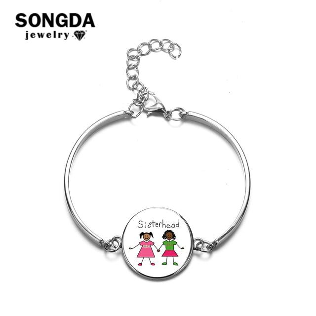 bb477d13f44ba US $1.04 30% OFF|SONGDA Charm AKA Art Photo Glass Cabochon Pendant Chain  Bracelet Greek Sorority Alpha Kappa Alpha Fashion Jewelry 9 Style Choose-in  ...