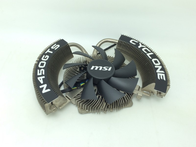 New Original for MSI GTS450 CYCLONE blade two heat pipe radiator cards cooling fan new original xs7c1a1dbm8 xs7c1a1dbm8c warranty for two year