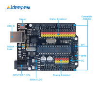 For Arduino UNO R3 Plus Sensor I/O Atmega328P Atmega16U2 Expansion Multifunctional Microcontroller Development Board SPI IIC One