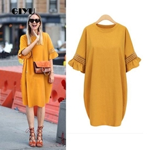 GIYU 5XL Big Size Summer Women Solid Lace Dress Casual Half Sleeve Dresses Hollow Out Loose Vestido Sexy Ruffles robe femme giyu 4xl big size summer women solid dress casual short sleeve dresses loose vestido turn down collar robe femme