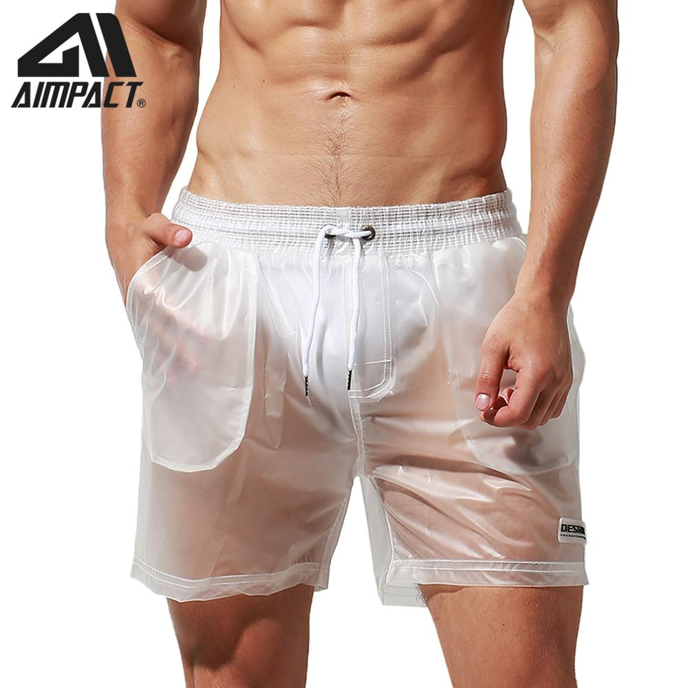 Aimpact Sexy Transparent Boardshorts For Men Fashion Casual Travel Raining Hybird Shorts Surf Beachwear DT91