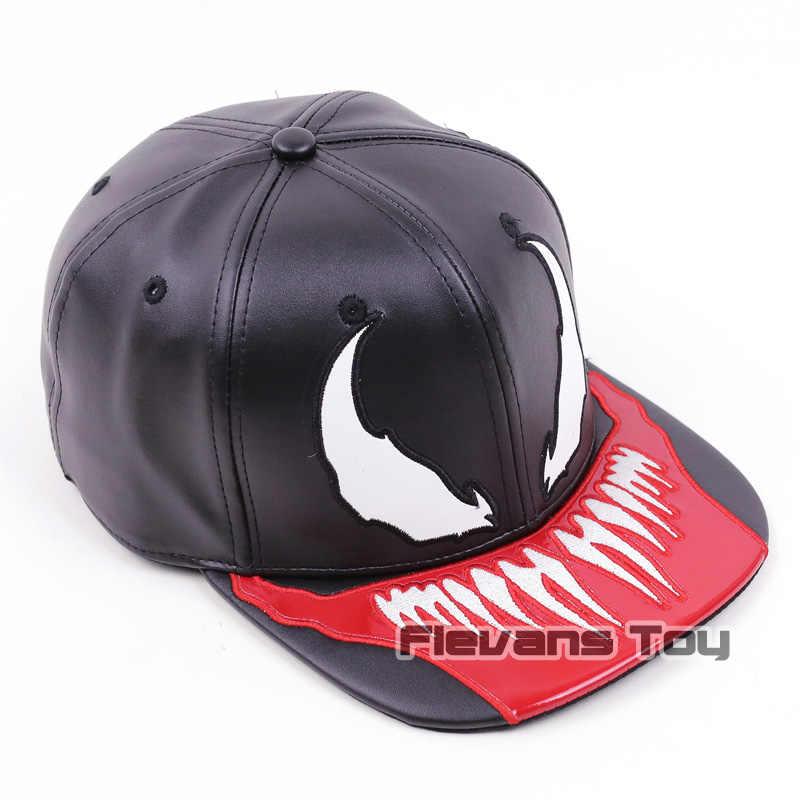 e8f75b6ed4e ... Marvel Spiderman Venom Snapback Caps Cool Fashion Hip Hop Hat Adult  Faux Leather Baseball Cap For ...