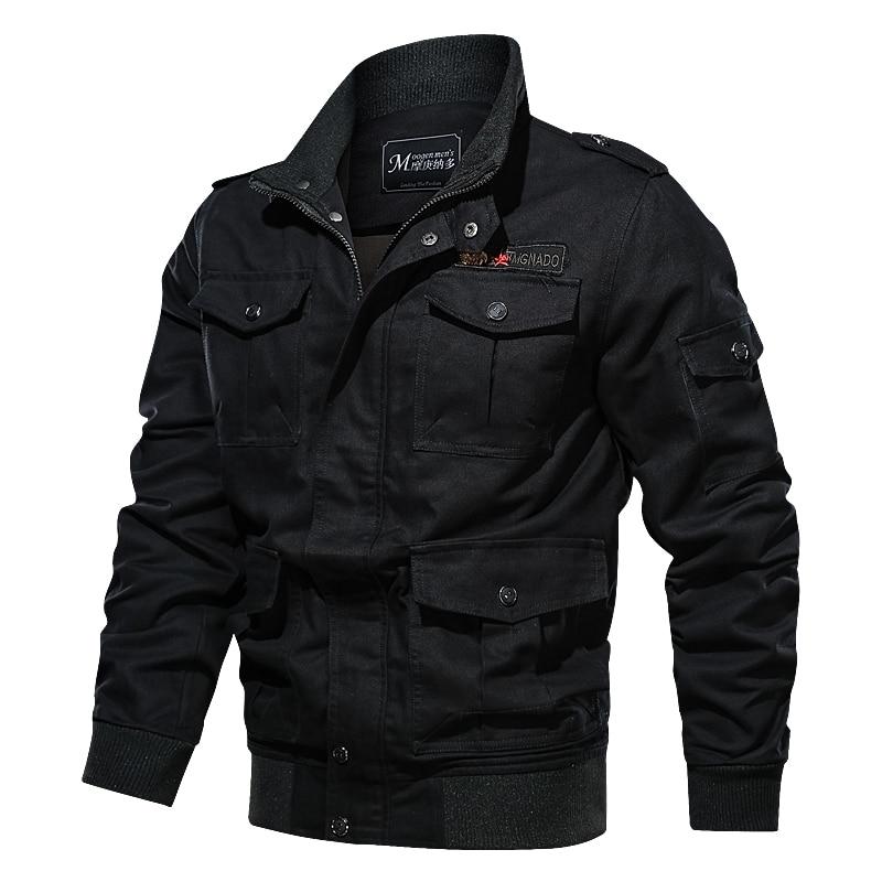 HTB1LpUAXuL2gK0jSZPhq6yhvXXaM Cotton Military Jacket Men 2019 MA-1 Style Army Jackets Male Brand Multi Pocket Men's Bomber Jackets Plus Size M-6XL Thick Warm
