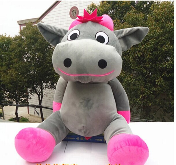lovely cow plush toy sitting gray cow stuffed doll big mouth cow toy birthday gift about 70cm big lovely stuffed panda toy plush sitting panda doll birthday gift about 70cm