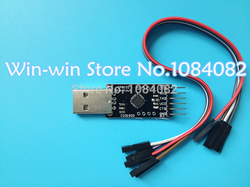 Free Shipping 20PCS LOT CP2102 module STC Download USB to TTL Send Dupont Line
