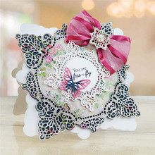 Buy Lace Square Frame Metal Cutting Dies for Scrapbooking New 2019 Craft Dies Cuts Card Making Stencils Album Embossing directly from merchant!