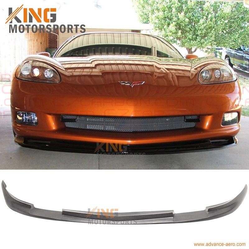 FIT 05 06 07 08 09 10 11 12 13 Chevy Corvette C6 Base Pare-chocs Avant Lip Spoiler Splitter PU