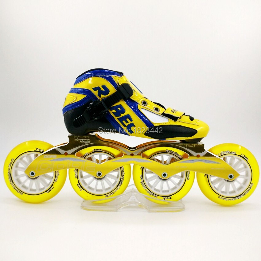 Adult Inline Skate Shoes,Professional Speed Roller Skate,High Strength Glass Filament Speed Skating Shoes Rollerblading Patins