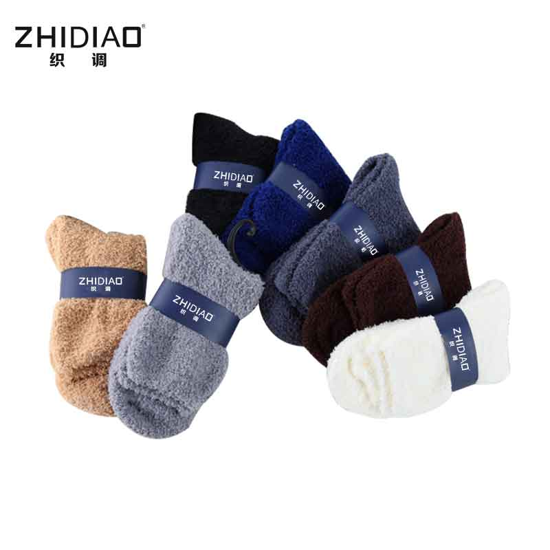 Fashion man winter thermal terry socks cotton high quality crew black socks men woman christmas socks for men gifts 7 colors