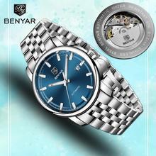 New Fashion Mens Watches Top Luxury Brand BENYAR Machinery Wristwatches Waterproof Sport Clock Watch Men Relogio Masculino