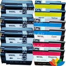10 Совместимость HP 950XL-951XL Четыре Пакета-Черный и Цвет Чернил HP 8600 8610 8615 8620 8630 8640 8100