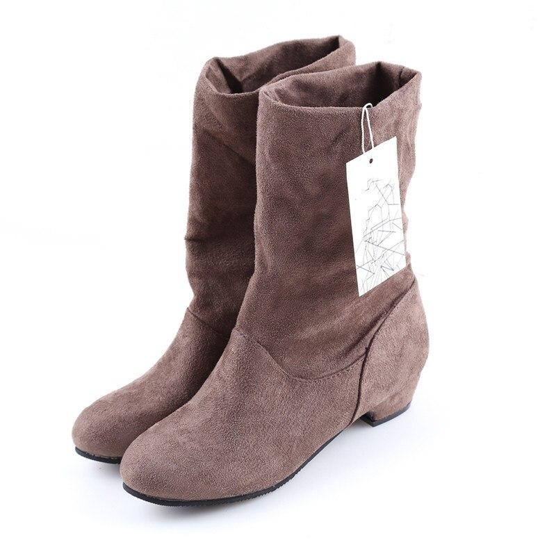100% QualitäT Bigsweety Winter Frauen Stiefel Mid-waden Martin Stiefel Mode Weibliche Stretch Baumwolle Stoff Slip-on Stiefel Flache Schuhe Botas Mujer Neueste Technik