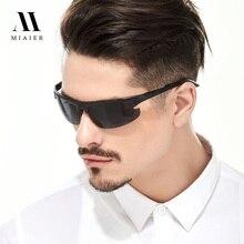 MIAIER Polarized Sunglasses Men 2017 New Style Men Sunglasses Ultra Lightweight Al-ma Alloy Frame Rimless Sunglasses Driver
