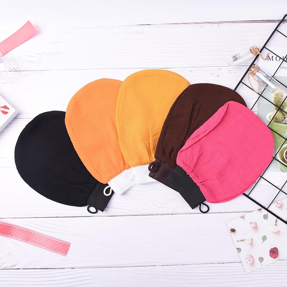 2018 New Moroccan Hammam Shower Bath Magic Peeling Glove Exfoliating Tan Removal Kessa Color Random