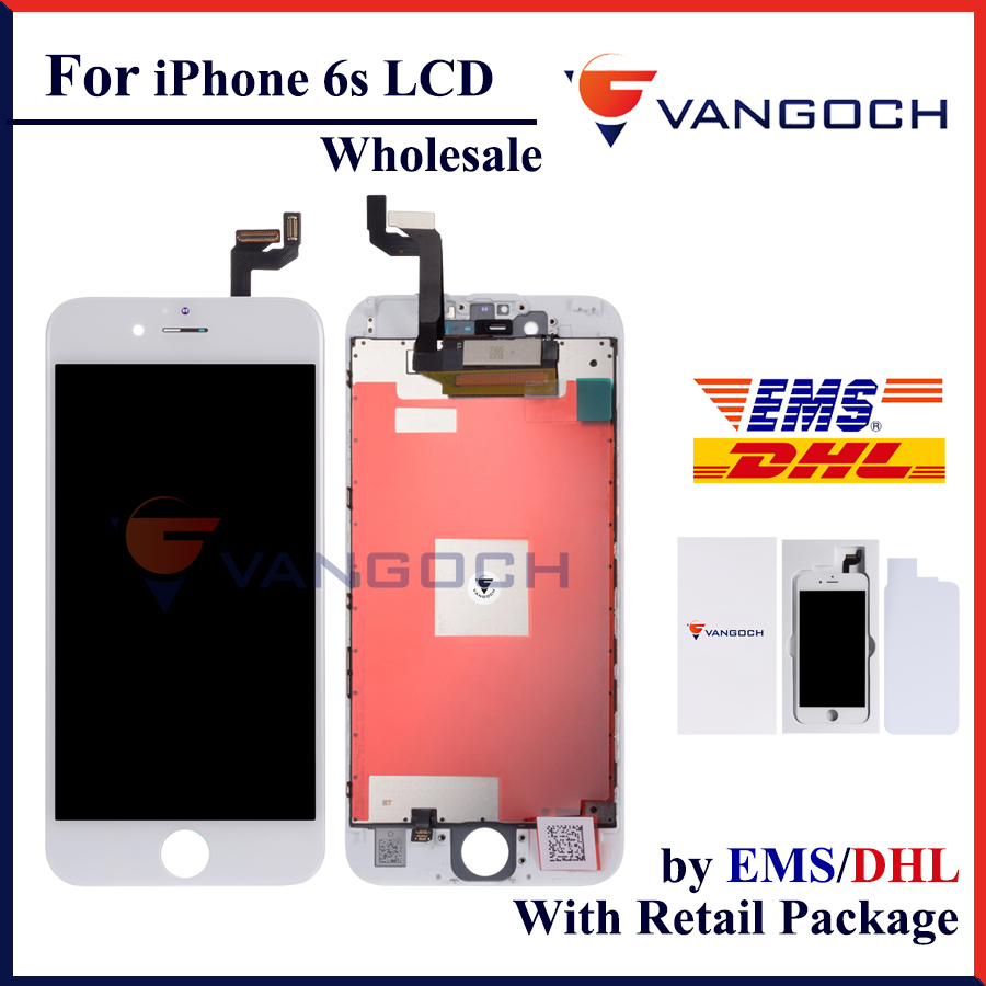 10 pcs Wholesale AAA Quality No Dead Pixel Good 3D Touch Display for iPhone 6s LCD with Retail Package Free Shipping by DHL