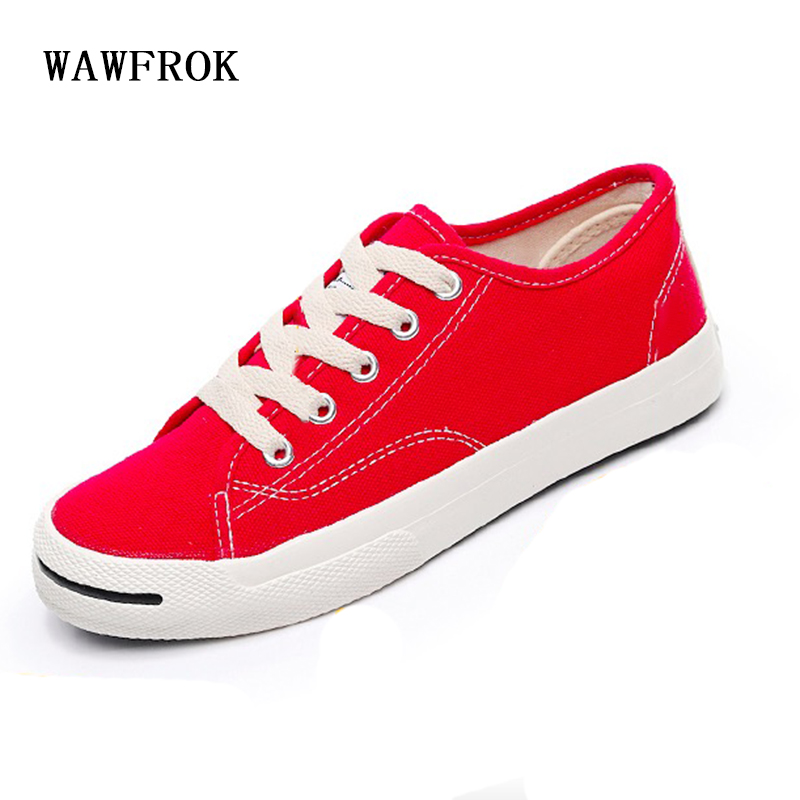 WAWFROK Women Casual Shoes 2018 Summer Spring Breathable Women Sneakers Fashion Lace-Up Ultralight Canvas Flats 2018 summer sneakers women fashion breathable lycra women casual shoes light soft flats shoes lace up casual women shoes