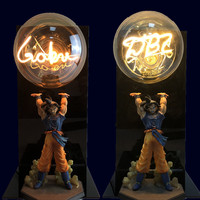 Dragon Ball Lamp Goku DBZ Night Lights Table Lamp Dragon Ball Super Goku Kamehameha Lamp Nightlight Lampara Word Bulb