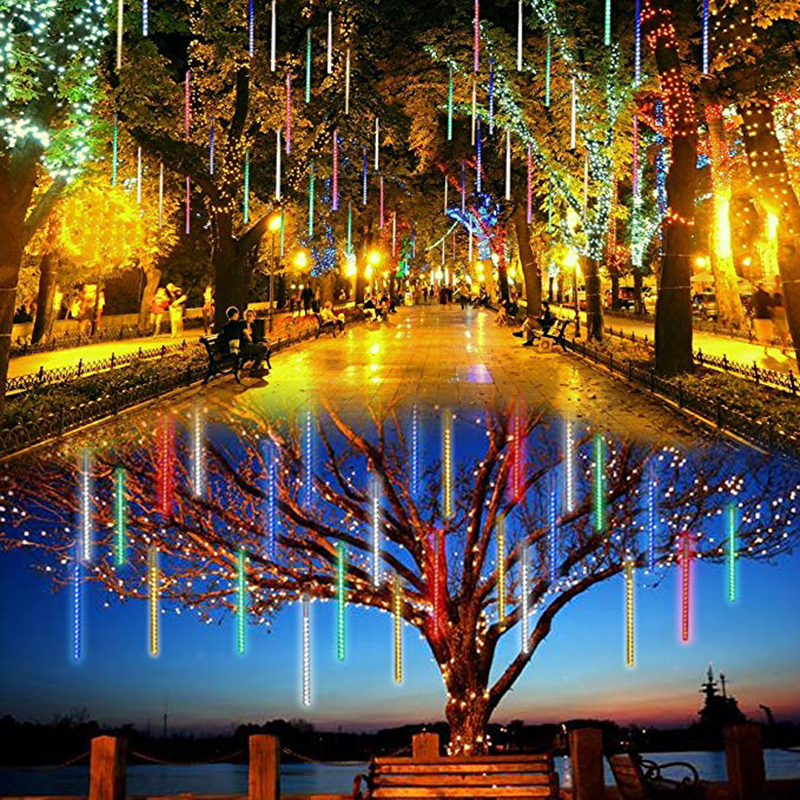 Solar Powered String Lights Outdoor Christmas Fairy Lights Xmas Tree Home Wedding Decor LED Meteor Shower Rain Lamp Solar Light fairy led solar panel meteor shower string lights waterproof garden outdoor home tree lamp festival new year garland decoration