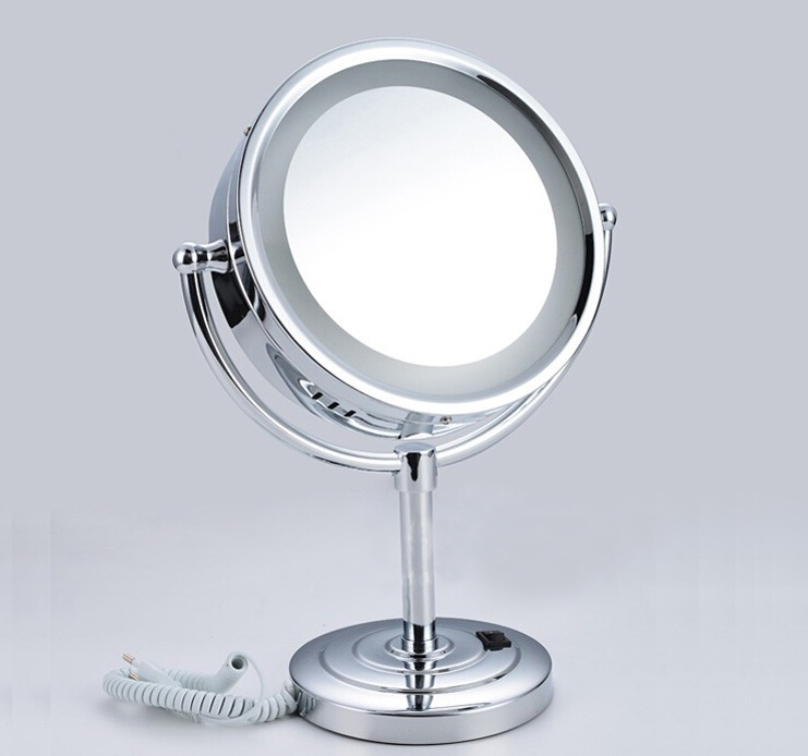 Free Shipping 8 inch bathroom LED mirror desk makeup illuminator for  cosmetic and shaving magnifying function. Online Buy Wholesale illuminated shaving mirror from China